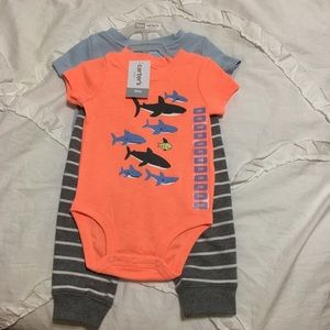 Carter's 3-Piece Shark Set